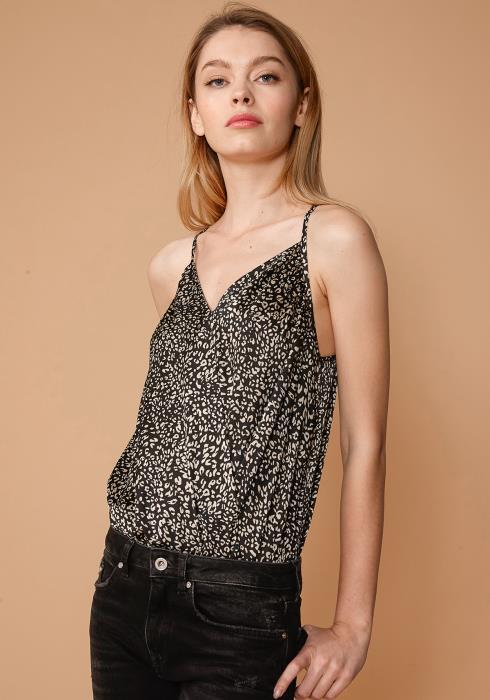 Nurode Leopard Wrap Front Bodysuit