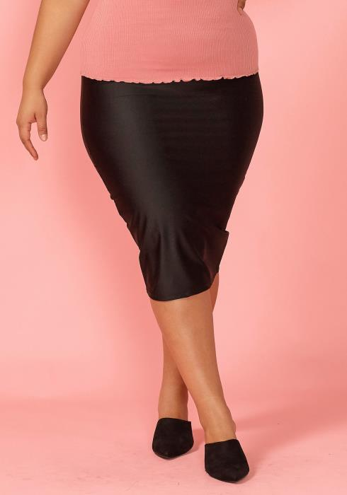 Asoph Plus Size High Stretch Neon Pencil Skirt