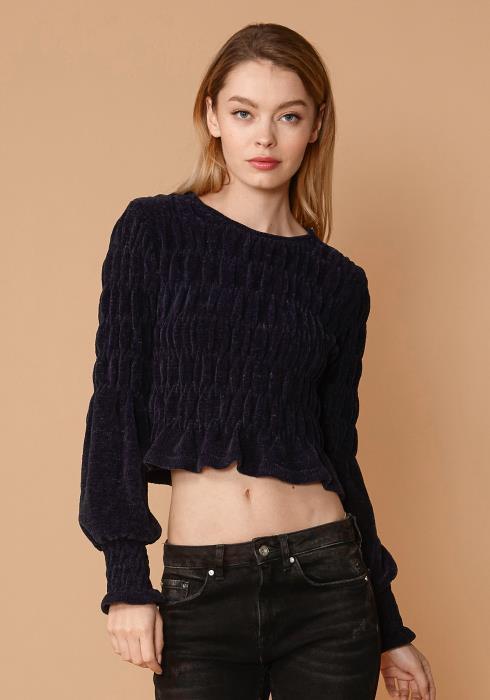 Nurode Midnight Peplum Sweater