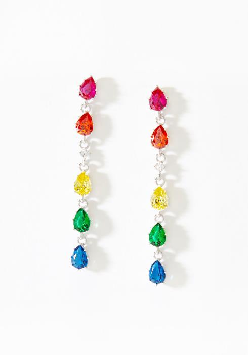 Dainty Color Stone Drop Earring