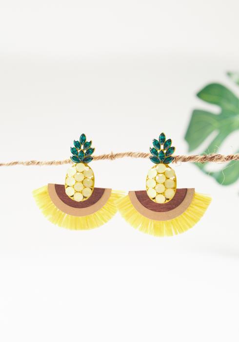 Pineapple Tassel Earrings