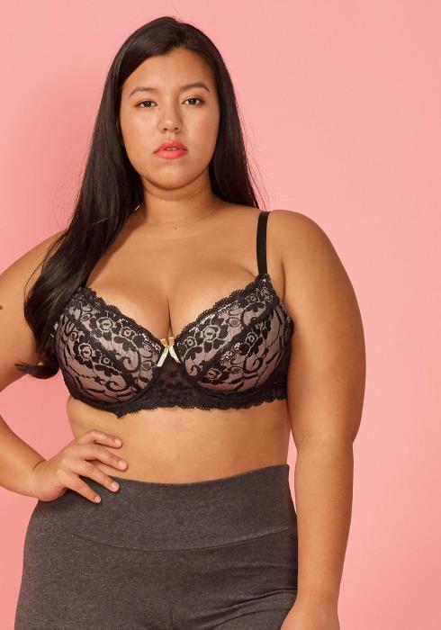 Asoph Plus Size Sexy Lace Bra (size D)