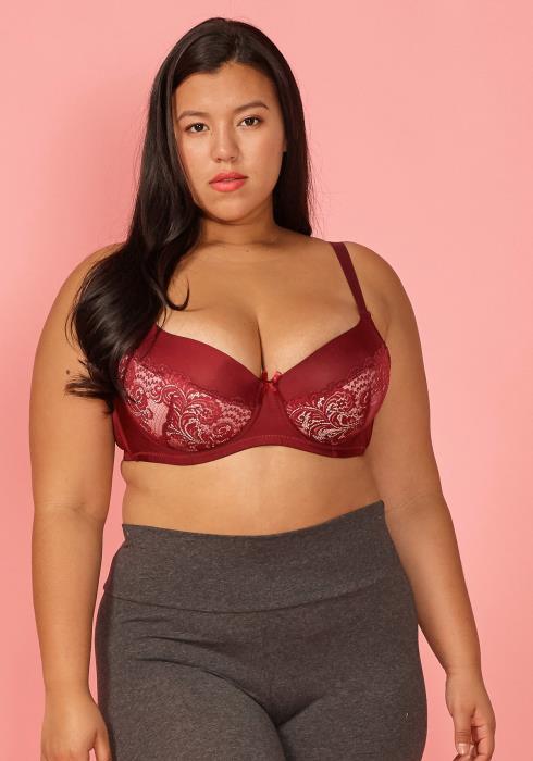 Asoph Plus Size Lace Bra (size D)