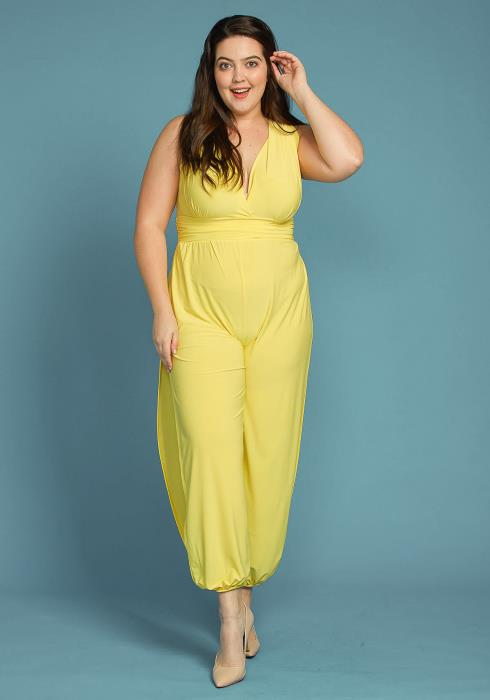 Asoph Plus Size Sleeveless Side Slit Jumpsuit