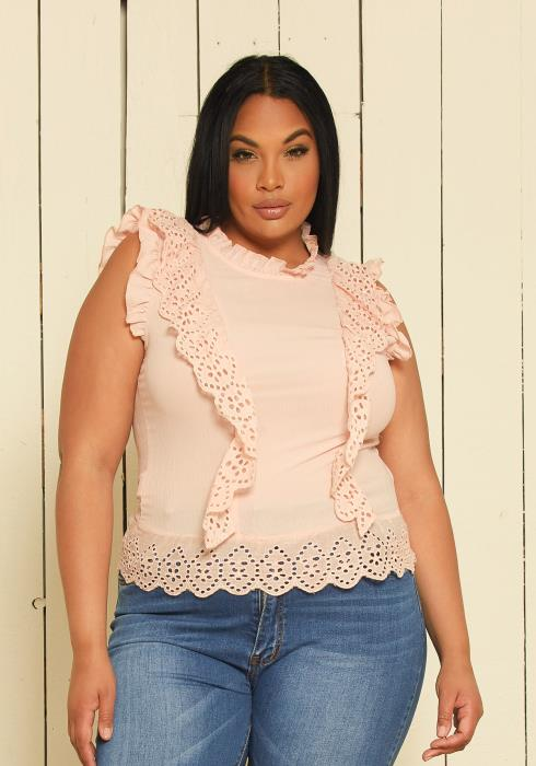 Asoph Plus Size Ruffle Top