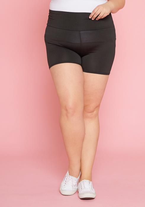Asoph Plus Size Tummy Hugging Leggings Shorts