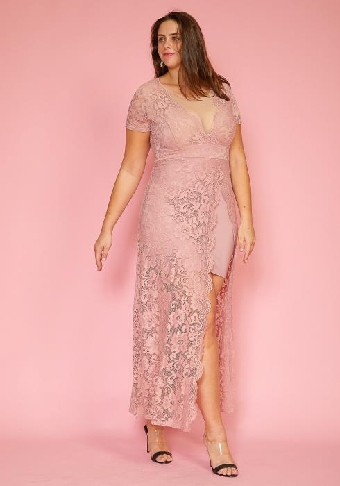 Asoph Plus Size Elegant Lace Dress
