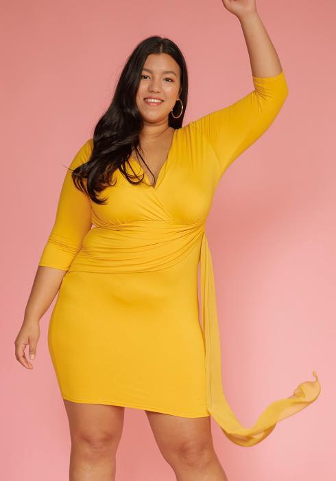 Asoph Plus Size Chiffon Scarf Party Dress