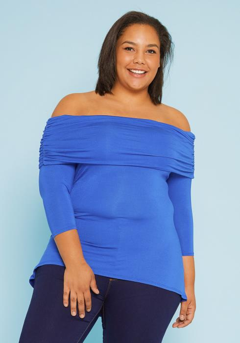 Asoph Plus Size Off Shoulder Top