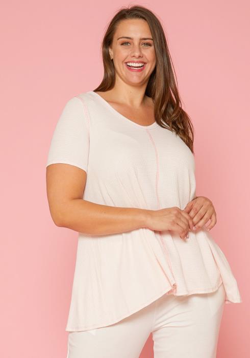 Asoph Plus Size Soft Stripe Top