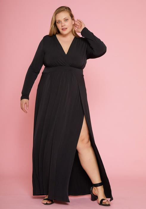 Asoph Plus Size Wrap Maxi Dress