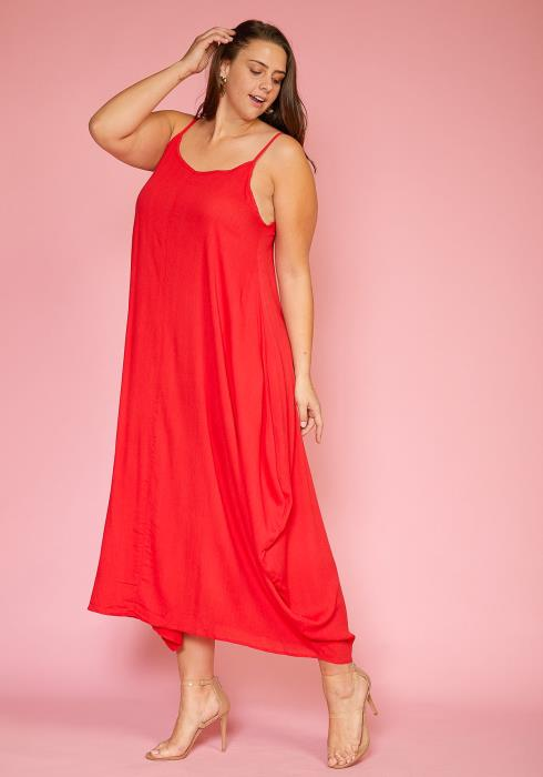 Asoph Plus Size Loose Fit Maxi Cami Dress