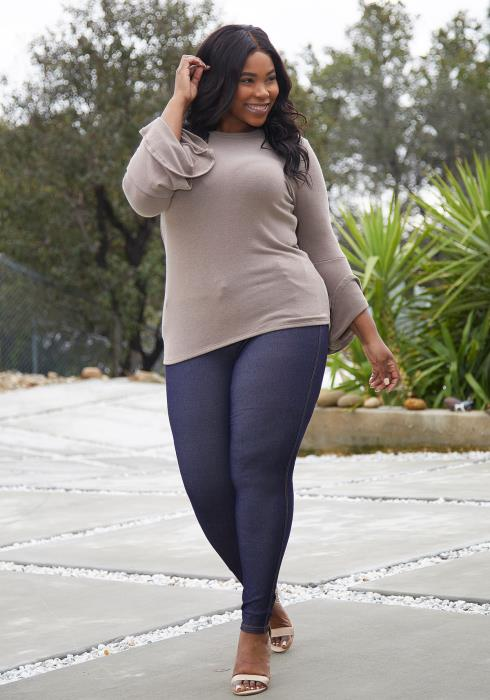 Aposh Plus Size High Waist Jeggings