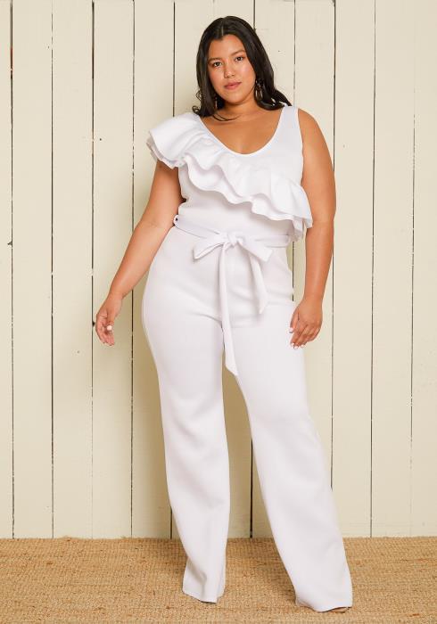 Asoph Plus Size Ruffle Jumpsuit
