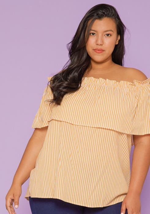 Asoph Plus Size Off Shoulder Blouse