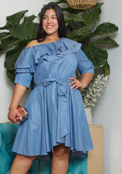 Asoph Plus Size Off Shoulder Dress