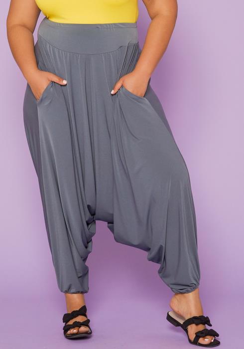Asoph Plus Size High Waist Harem Pants
