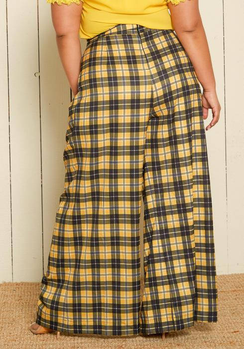 Asoph Plus Size High Waist Palazzo Pants