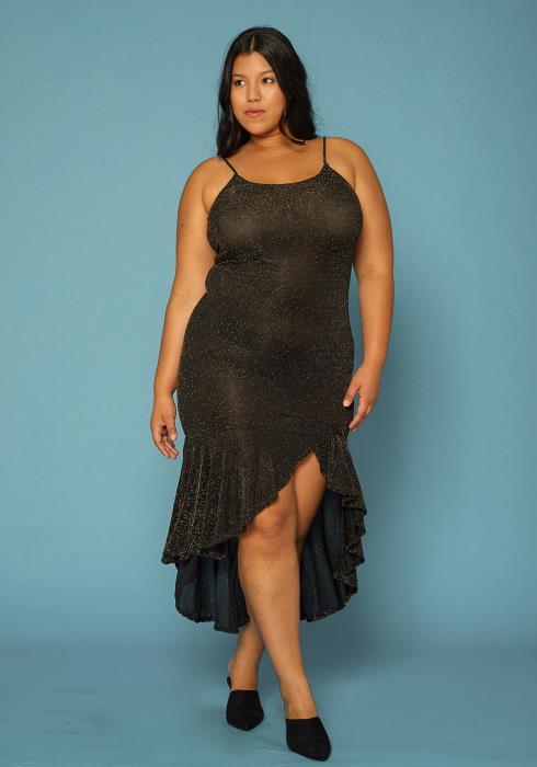 Asoph Plus Size asymmetrical Dress