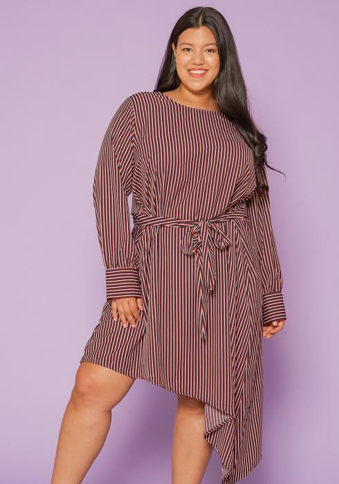 Asoph Plus Size Stripe Tent Dress