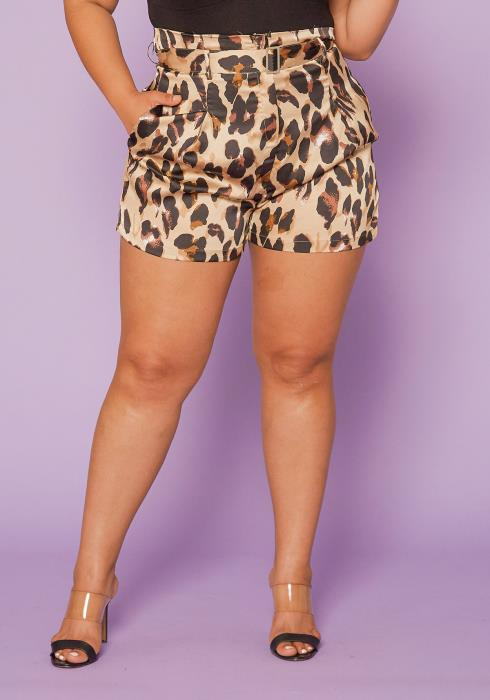 Asoph Plus Size High Waist Shorts