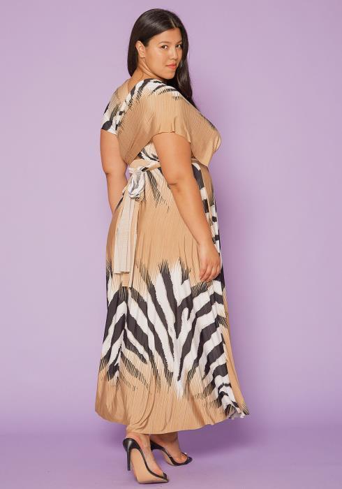 Asoph Plus Size Wrap Maxi Dress