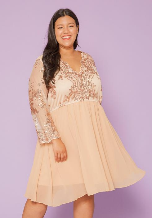 Asoph Plus Size Chiffon Party Dress