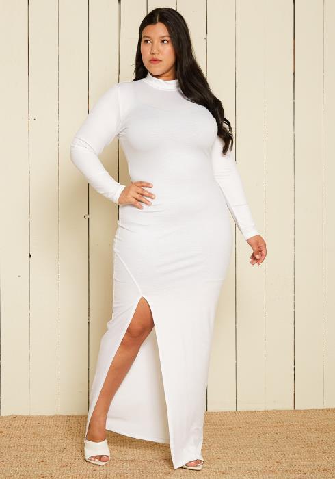 Asoph Plus Size Monochrome Maxi Dresses