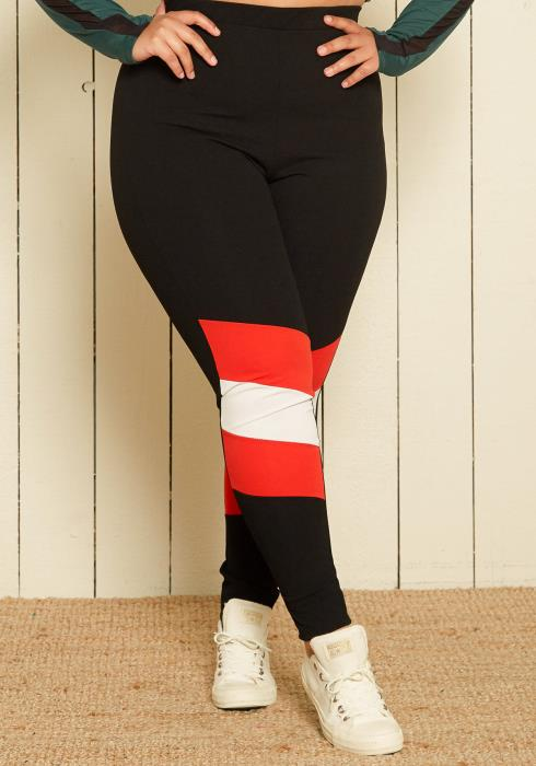 Asoph Plus Size Stripe Leggings