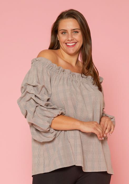 Asoph Plus Size Tunic Blouse