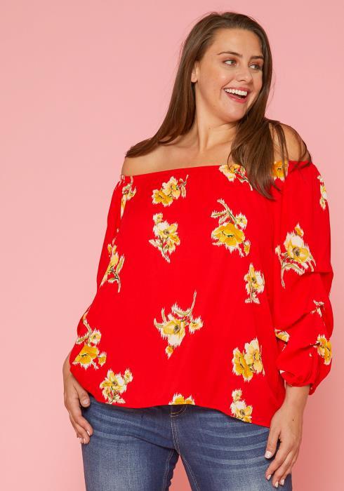 Asoph Plus Size Floral Blouse