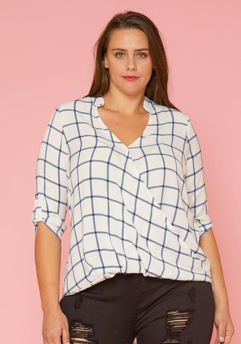 Asoph Plus Size Wrap Blouse