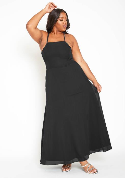 Asoph Plus Size Chiffon Maxi Dress