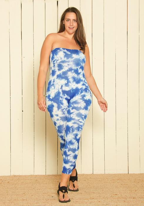 Asoph Plus Size Strapless Jumpsuit
