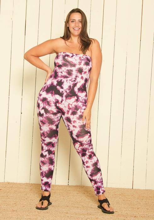 Asoph Plus Size Strapless Jumpsuit