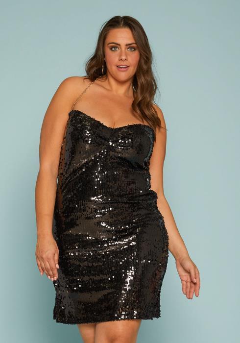 Asoph Plus Size Sequin Party Dress