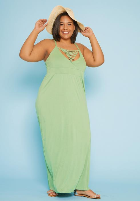 Asoph Plus Size Empire Maxi Dress