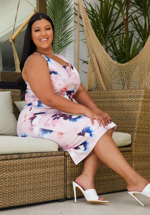 Asoph Plus Size Sleeveless Floral Dress