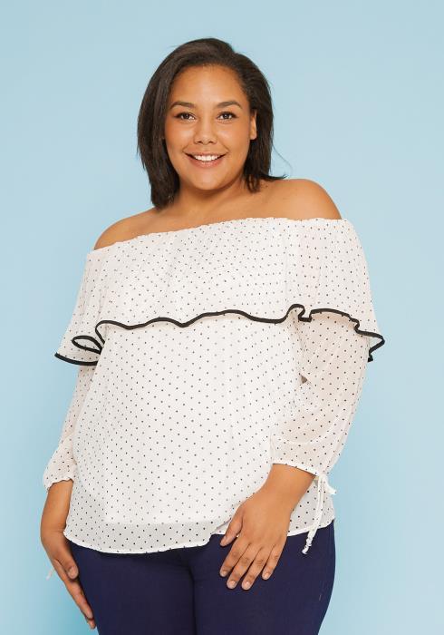 Asoph Plus Size Off Shoulder Blouse