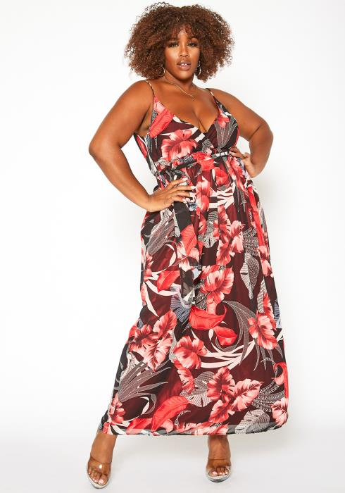 Asoph Plus Size Floral Maxi Dress