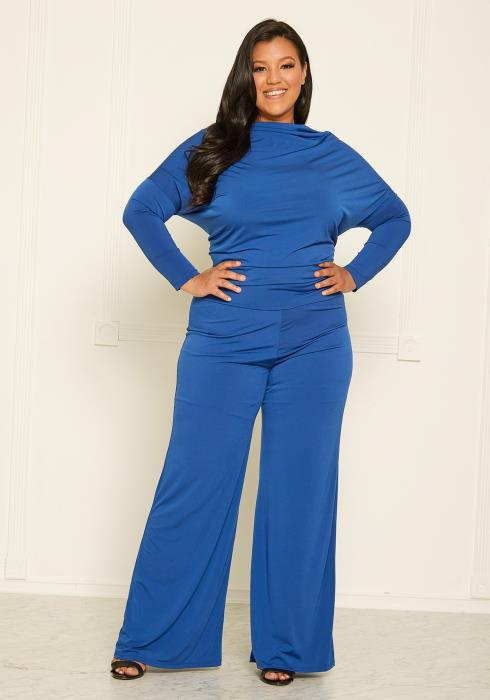 Plus Size Off Shoulder Jumpsuit