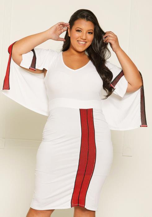 Asoph Plus Size Caped Bodycon Dress