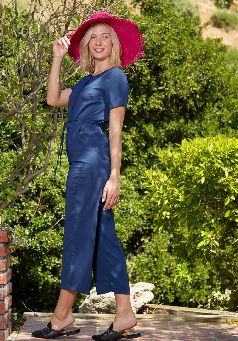 Tansy Casual Cropped Jumpsuit