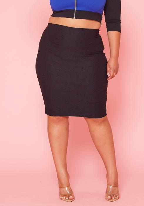Asoph Plus Size Pencil Skirt