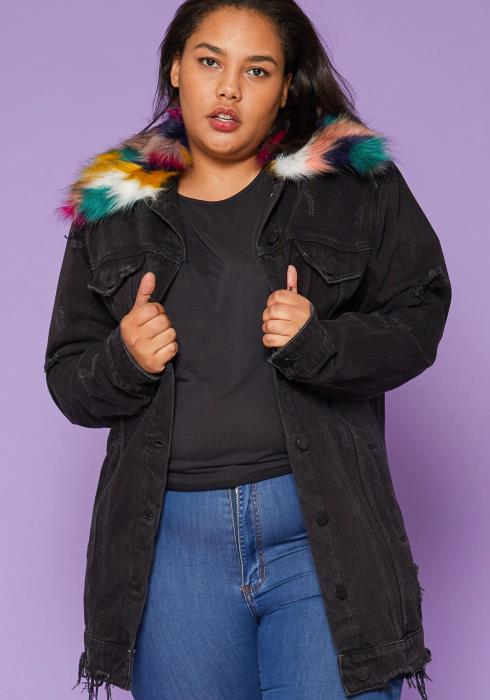 Asoph Plus Size Denim Jacket