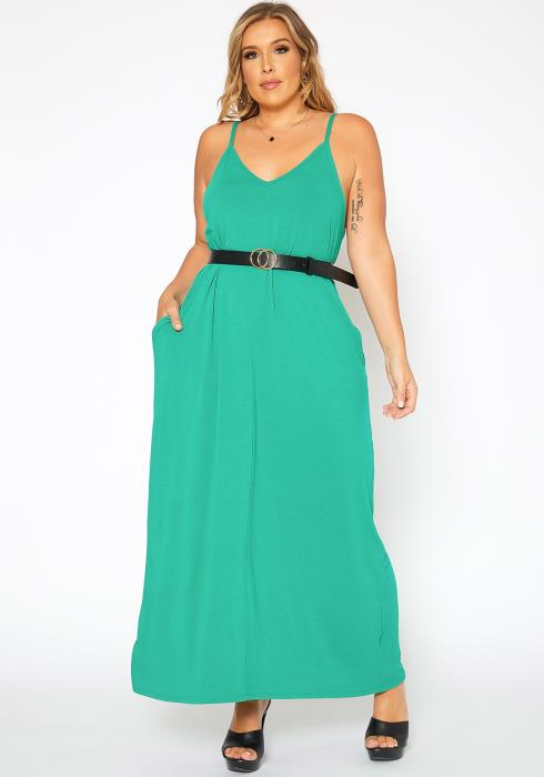 Asoph Plus Size Everyday Basic Cami Maxi Dress