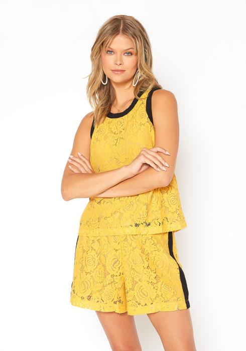 Pleione Floral Lace Sleeveless Top