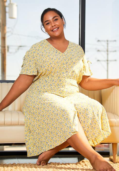 Pleione Plus Size Womens Floral Patterned Button Down Maxi Dress