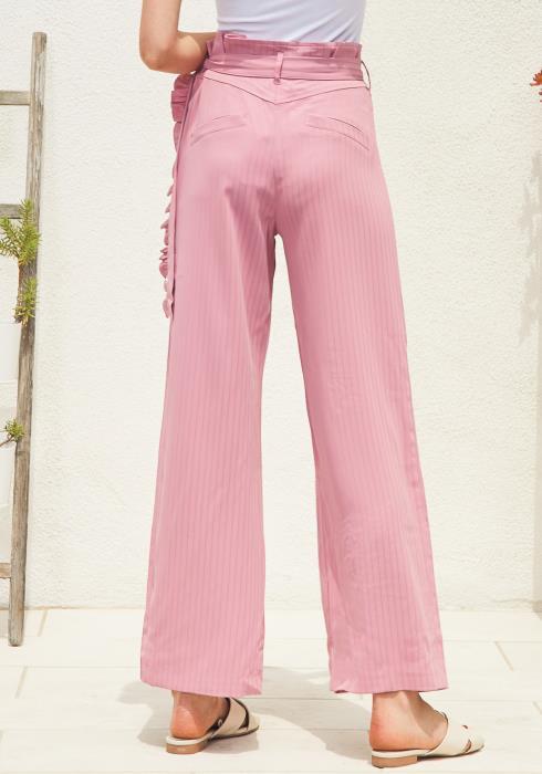 Tansy Stripe High Waist Trouser Pants