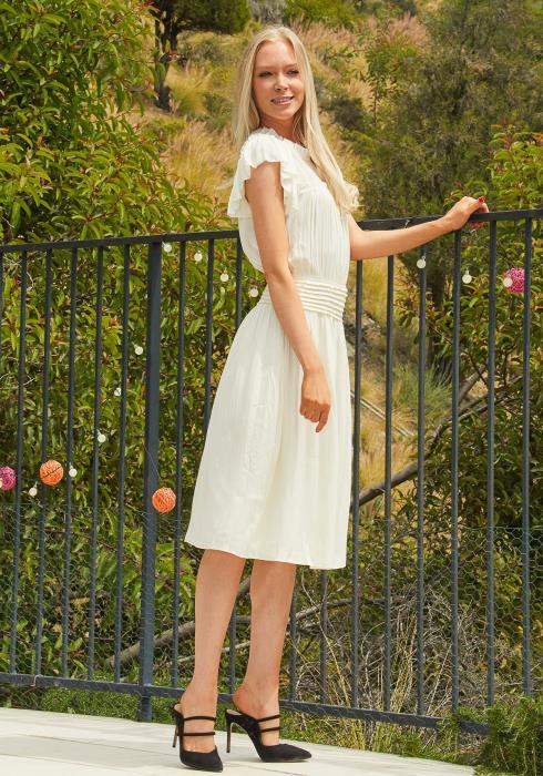 Tansy Smocked Drop Waist Midi Dress